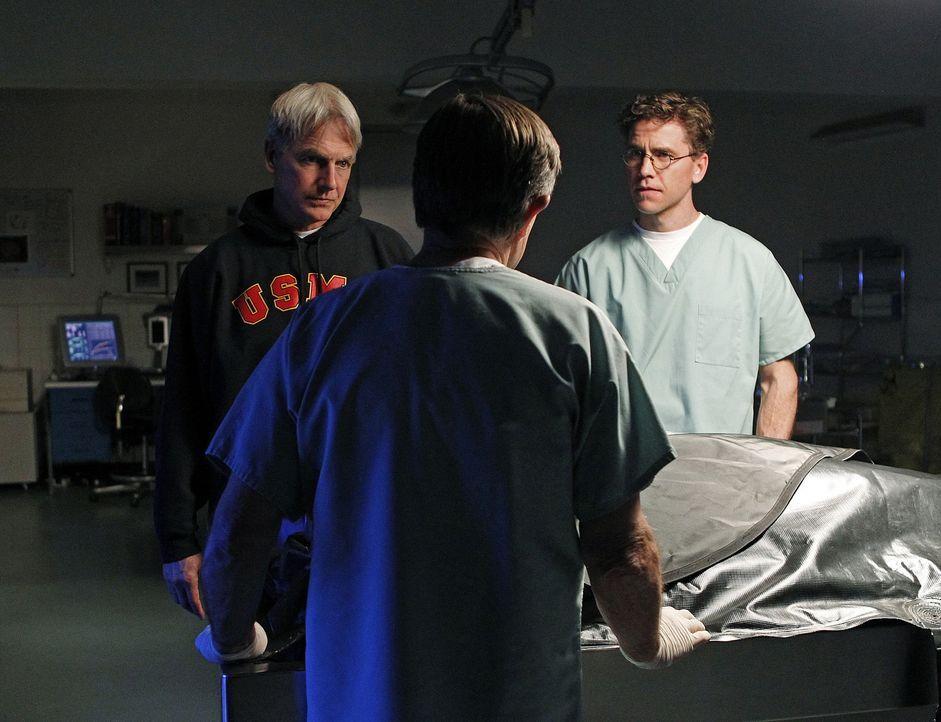 Bei den Ermittlungen in einem neuen Fall: Gibbs (Mark Harmon, l.), Jimmy (Brian Dietzen, r.) und Ducky (David McCallum, M.) ... - Bildquelle: CBS Television