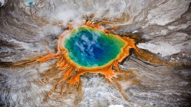 Der Yellowstone Nationalpark im Herzen Nordamerikas ist der älteste Nationalp...
