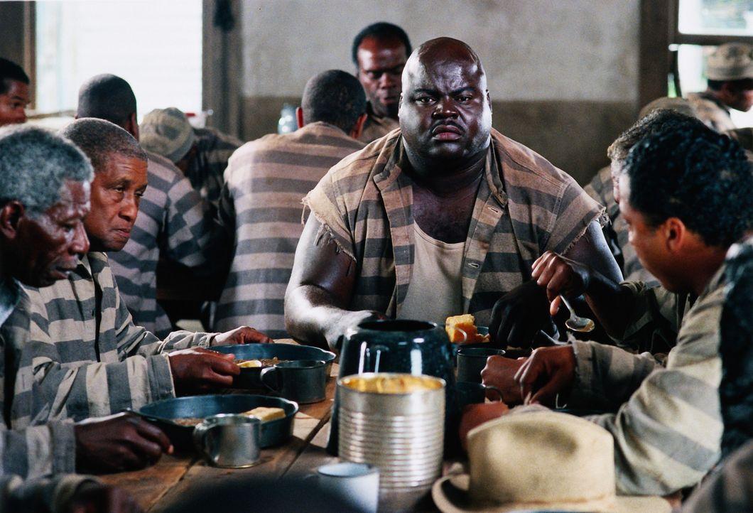Im Gefängnis lernen Claude und Ray, die unschuldig zu lebenslänglich verurteilt wurden,  viele Mithäftlinge kennen, darunter auch Goldmouth (Mich... - Bildquelle: 1999 Universal Studios. All rights reserved