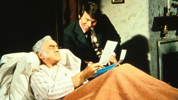 Als Ben Cartwright und seine Söhne verreisen, nutzt Bradley (Lorne Greene), d...