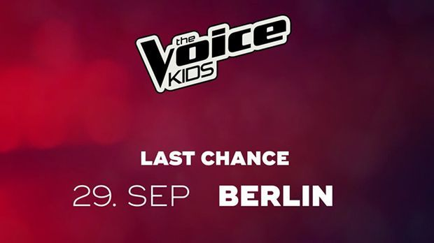 Am 29.September sind die Last Chance Days von The Voice Kids