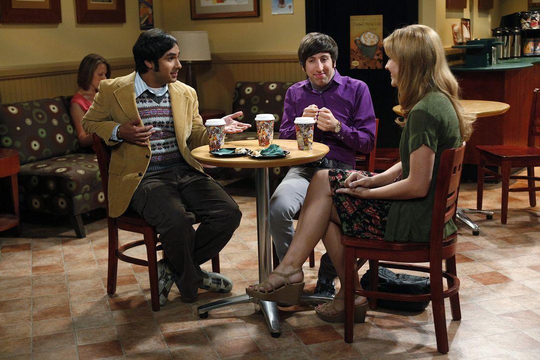 Penny beschließt eine Freundin für Raj (Kunal Nayyar, l.) zu finden, was aufgrund seiner Unfähigkeit mit Frauen zu sprechen, recht schwierig ist.... - Bildquelle: Warner Bros. Television