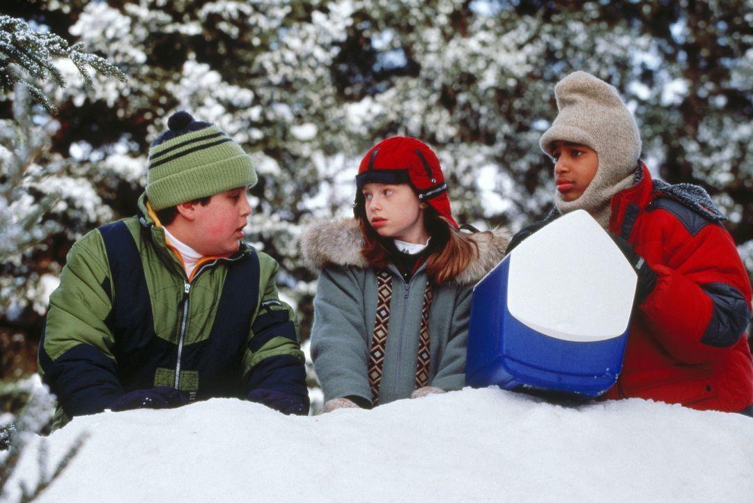 Die Stadt ist eingeschneit und deshalb ist heute schulfrei. Für die Freunde Wayne (Josh Peck, l.), Natalie (Zena Grey, M.) und Chet (Jade Yorker, r.... - Bildquelle: Paramount Pictures