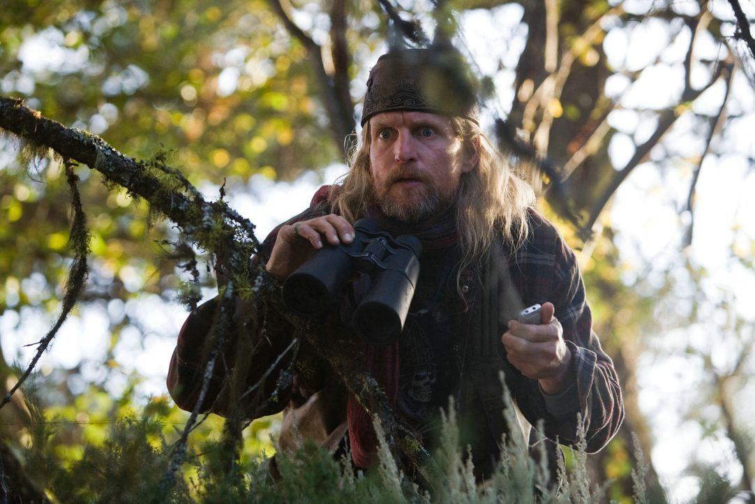 Der exzentrische Wissenschaftler Charlie Frost (Woody Harrelson) ist der einzige, der seit Jahren die Apokalypse voraussagt. Doch niemand will ihm G... - Bildquelle: 2009 Columbia Pictures Industries, Inc. All Rights Reserved.