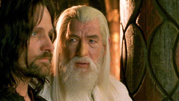 Das Fortbestehen der Menschheit ist ungewiss: Aragorn (Viggo Mortensen, l.) u...