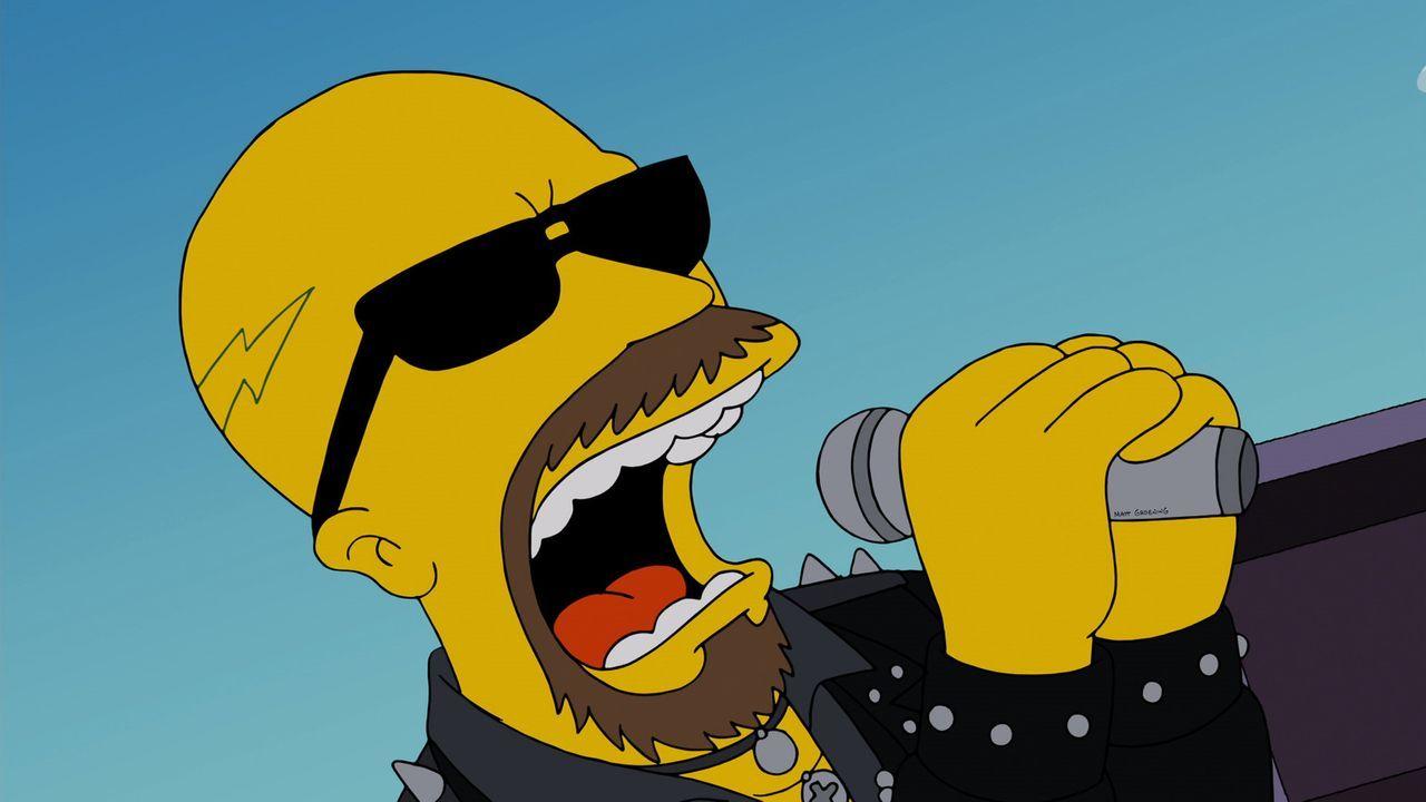 """Al Atkins, Sänger der Metal-Band """"Judas Priest"""", ist mit seinem Song """"Breaking the Law"""" ein echtes Role Model für Homer Simpson ... - Bildquelle: 2013 Twentieth Century Fox Film Corporation. All rights reserved."""
