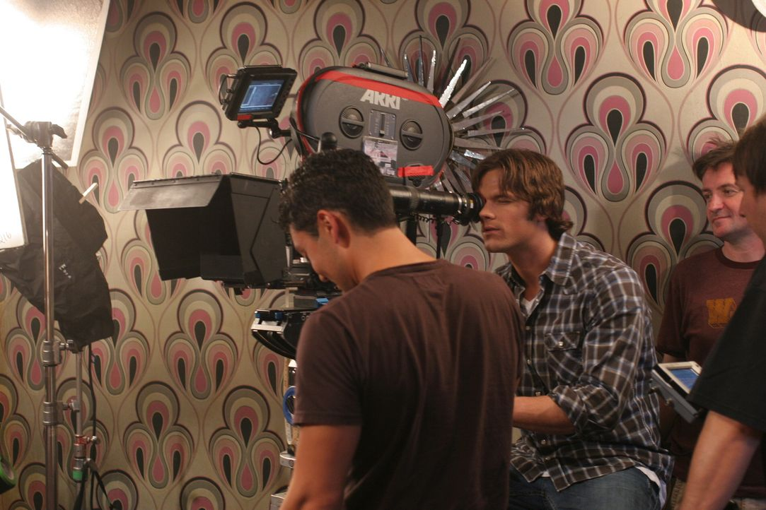 "Bei den Dreharbeiten zu ""Supernatural"" ..."