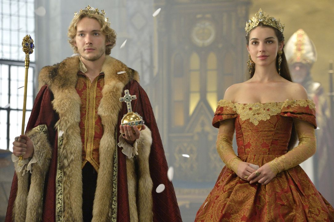 Obwohl das Volk hungert, mobilisiert Catherine alle noch vorhandenen Ressourcen, um die Krönung von Francis (Toby Regbo, l.) und Mary (Adelaide Kane... - Bildquelle: Ben Mark Holzberg 2014 The CW Network, LLC. All rights reserved.