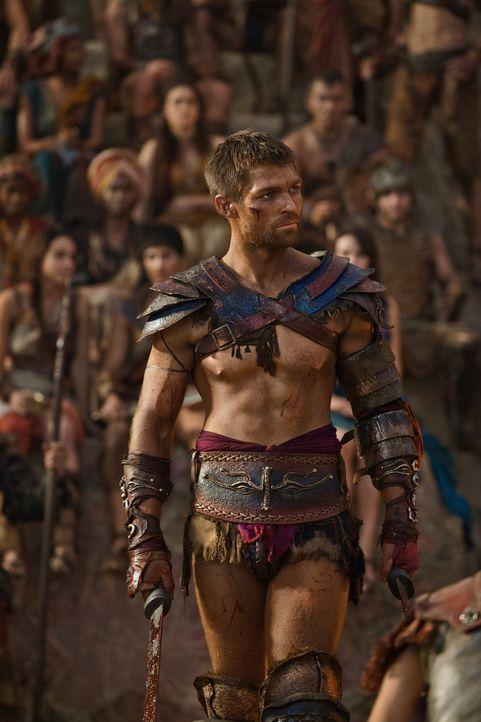 Als Spartacus (Liam McIntyre) in den Deal mit Crassus einwilligt, da ahnt er nicht, dass Kore dies mit allen Mitteln verhindern will ... - Bildquelle: 2012 Starz Entertainment, LLC. All rights reserved.
