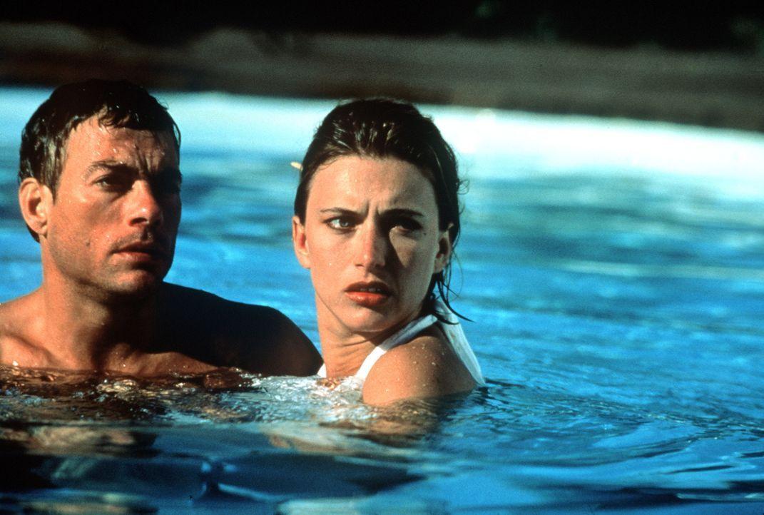 Nach einem Einsatz im ehemaligen Jugoslawien beschließt Jack (Jean-Claude van Damme, l.), seinen gefährlichen Job an den Nagel zu hängen und sich mi... - Bildquelle: Columbia TriStar
