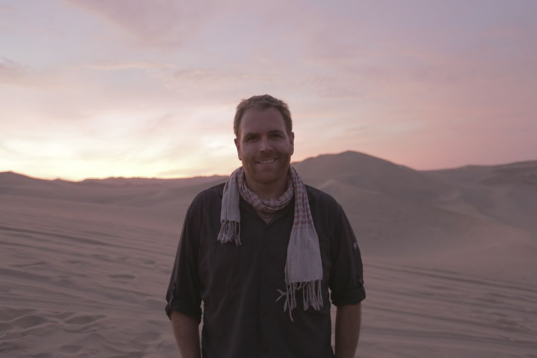 Josh trifft sich in Peru mit Wissenschaftlern, die sich mit der Untersuchung der Geoglyphen des Nazca-Stammes beschäftigen ... - Bildquelle: 2015, The Travel Channel, L.L.C. All Rights Reserved.