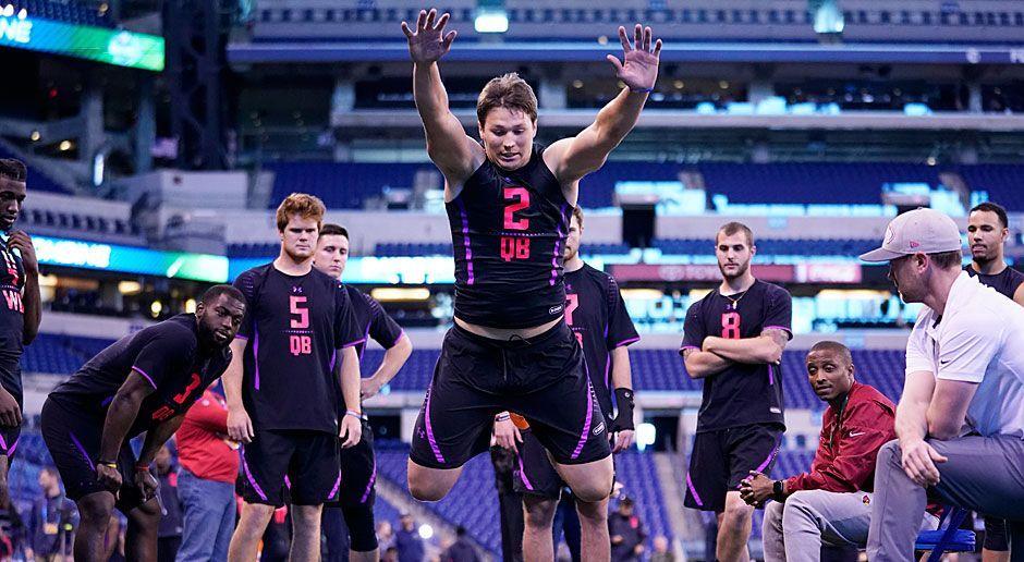 Gewinner: Josh Allen (Quarterback von Wyoming) - Bildquelle: 2018 Getty Images