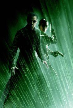 Matrix Reloaded - Matrix Reloaded mit Keanu Reeves, l. und Carrie-Anne Moss,...
