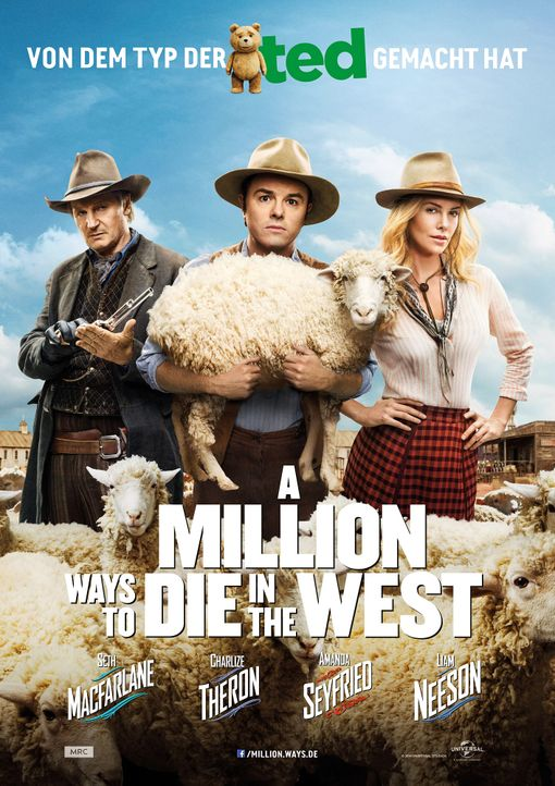 a-million-ways-to-die-in-the-west-plakat-Universal-Pictures - Bildquelle: Universal Pictures