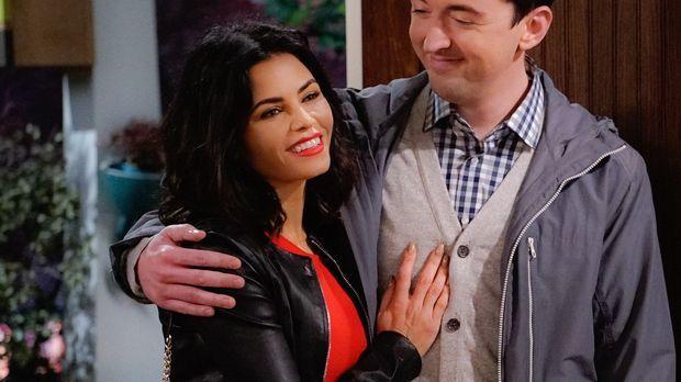 Als Adam und Andi Jen (Jenna Dewan Tatum, l.), Lowell (Matt Cook, r.) Frau ke...