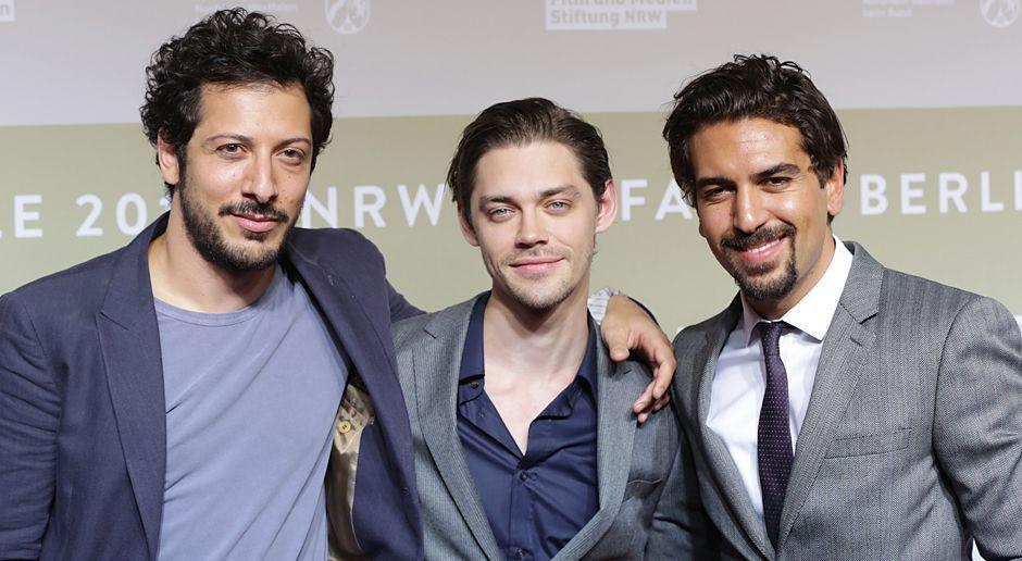 Berlinale-Fahri-Yardim-Tom-Payne-Elyas-MBarek-140209-dpa - Bildquelle: dpa