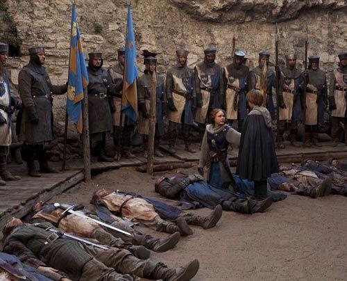 Der Krieg zwischen Mathilde (Alison Pill) und König Stephan fordert immer noch blutigen Tribut. Mathildes Heerführer Gloucester gehört zu den Opf... - Bildquelle: Egon Endrenyi - Tandem Productions - Pillars Productions