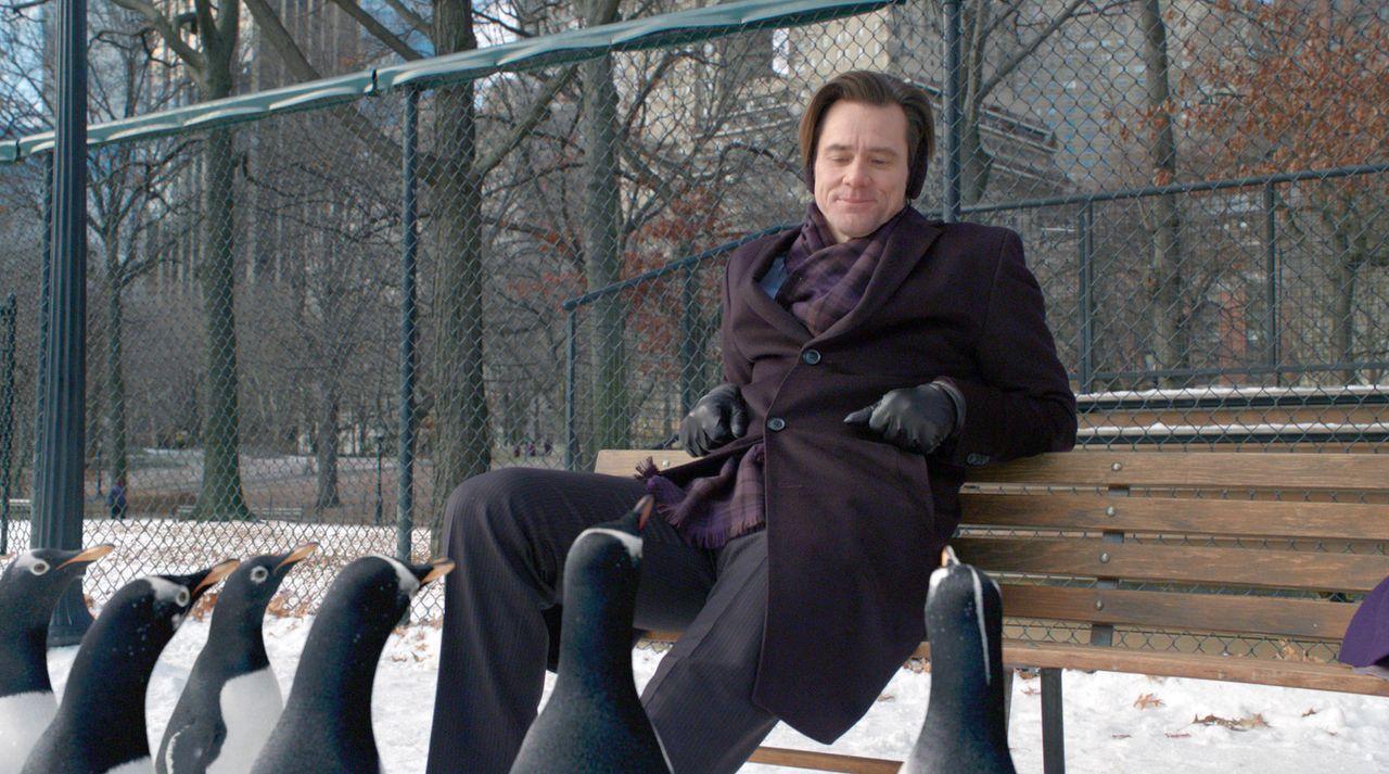 Der Geschäftsmann Tom Popper (Jim Carrey) führt ein geordnetes Arbeitsleben, in dem fast keine Zeit für seine beiden Kinder, geschweige denn für... - Bildquelle: 2011 Twentieth Century Fox Film Corporation. All rights reserved.