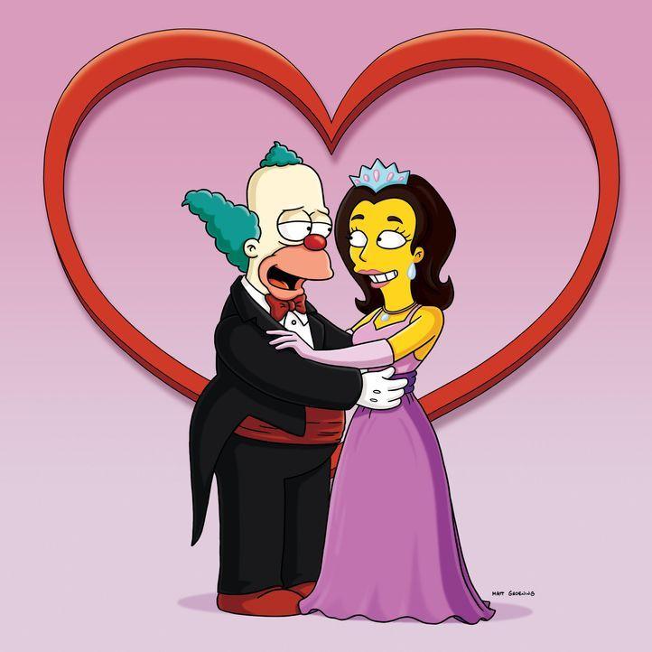 """Die Krusty-Show bekommt einen furchtbar kitschigen und süßlichen Co-Star: """"Prinzessin Penelope"""", die schnulzige Lieder singt und auf einem Einhorn... - Bildquelle: und TM Twentieth Century Fox Film Corporation - Alle Rechte vorbehalten"""