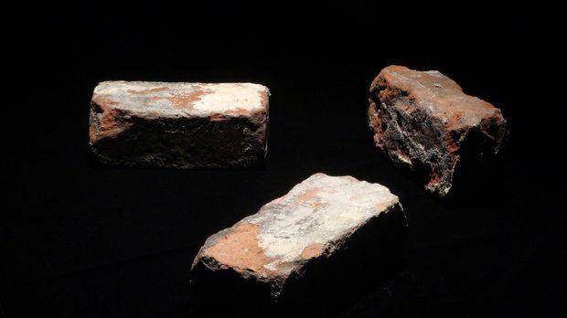 Diese Ziegelsteine aus der Zeit des amerikanischen Bürgerkriegs waren Teil ei...