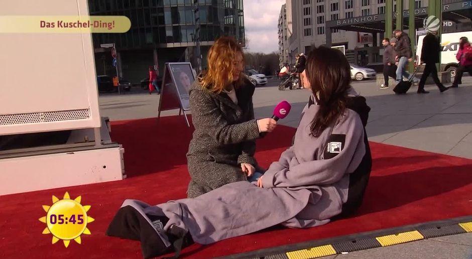 Frühstücksfernsehen Video Huggle Kuschel Ding Sorgt Für