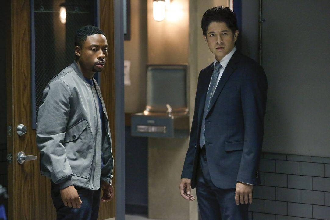 Die Quantou-Mafia möchte einen neuen Geschäftszweig in L.A. etablieren: Menschenhandel. Lee (Jon Foo, r.) und Carter (Justin Hires, l.) sollen den D... - Bildquelle: Warner Brothers
