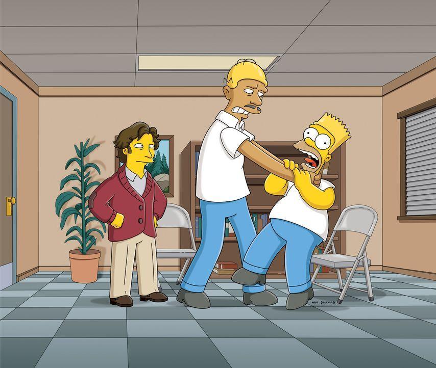 Denn sie wissen nicht, wen sie würgen: Dr. Zander (l.), Kareem Abdul-Jabbar (M.) und Homer (r.) ... - Bildquelle: und TM Twentieth Century Fox Film Corporation - Alle Rechte vorbehalten