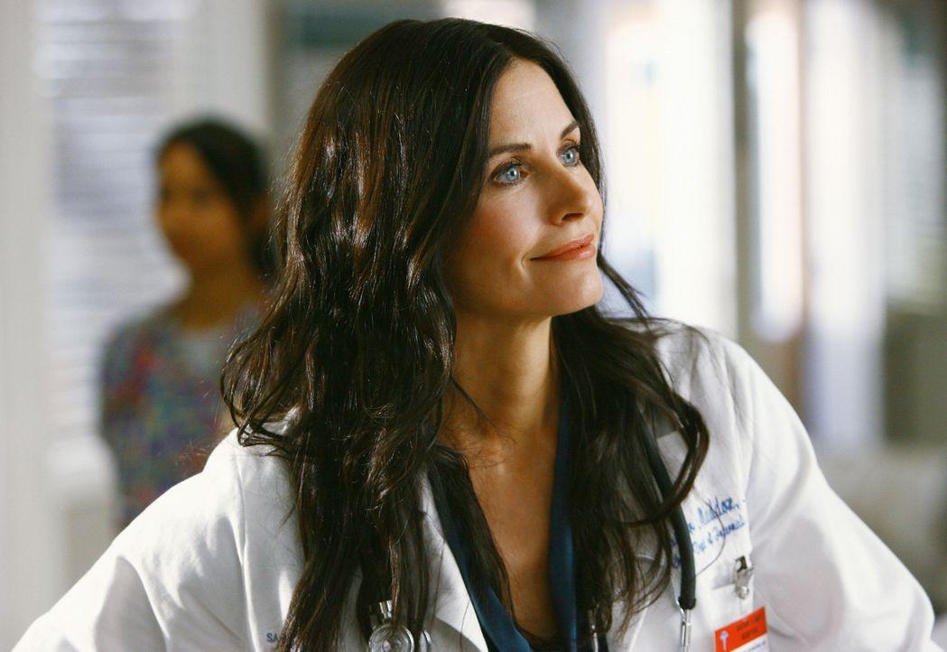 Während Dr. Maddox (Courteney Cox), der Ersatz für Dr. Kelso, die Dinge im Krankenhaus gleich mal kräftig aufmischt, hat J.D. hat ganz andere Proble... - Bildquelle: Touchstone Television