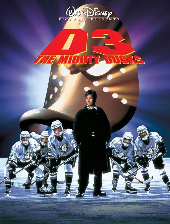 """""""MIGHTY DUCKS 3 - JETZT MISCHEN SIE DIE HIGHSCHOOL AUF"""" - Plaktmotiv - Bildquelle: Disney.  All Rights Reserved."""