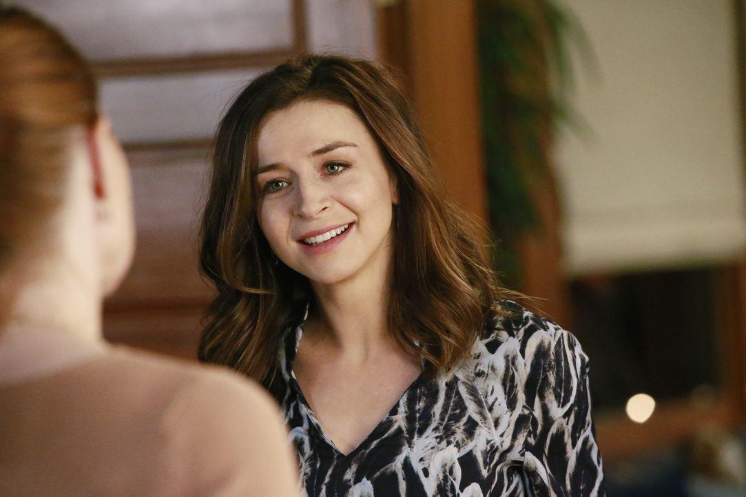 Die Dinnerparty von Meredith, Maggie und Amelia (Caterina Scorsone) droht in einer Katastrophe zu enden, als ein unerwarteter Gast erscheint ... - Bildquelle: Mitchell Haaseth ABC Studios