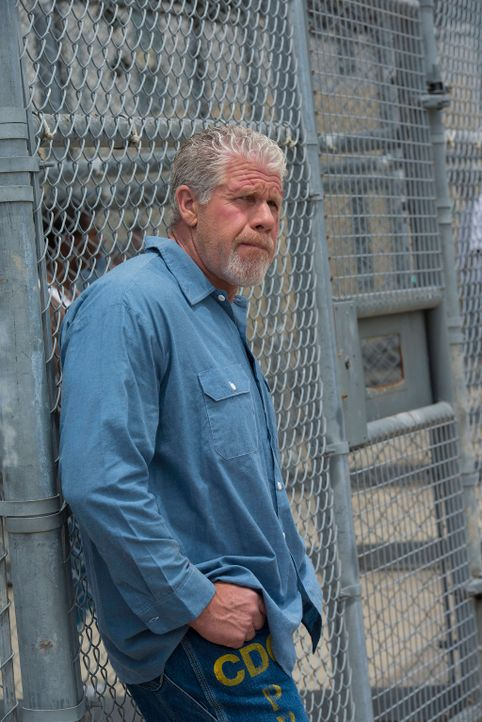Nichts ist umsonst: Clay (Ron Perlman) willigt ein, gegen den Club auszusagen, möchte aber im Gegenzug Gemma und Jax sehen ... - Bildquelle: 2013 Twentieth Century Fox Film Corporation and Bluebush Productions, LLC. All rights reserved.
