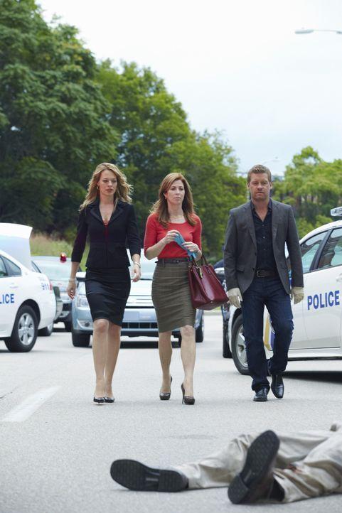 Als Cop Joe Salerno an den Folgen eines Verkehrsunfalls gestorben ist, beginnen Megan (Dana Delany, M.), Peter (Nicholas Bishop, r.) und Kate Murphy... - Bildquelle: ABC Studios