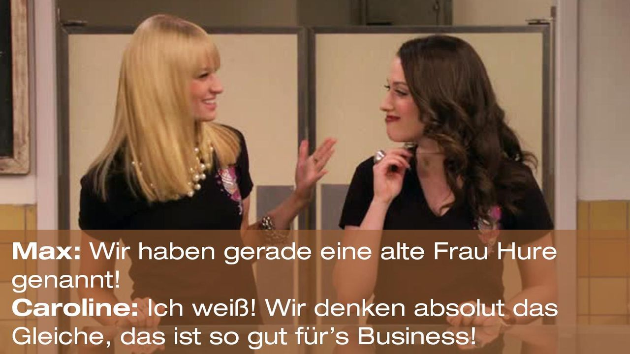 2-broke-girls-zitat-quote-staffel2-episode11-geschaeftspartnerin-caroline-business-warnerpng 1600 x 900 - Bildquelle: Warner Bros. International Television