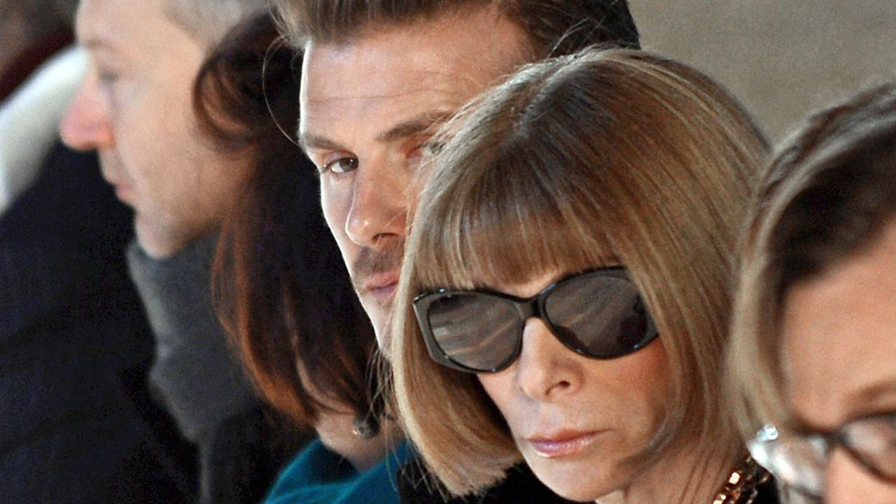 NewYork-Fashionweek-David-Beckham-Anna-Wintour-13-02-10-2-AFP - Bildquelle: AFP PHOTO/Stan HONDA