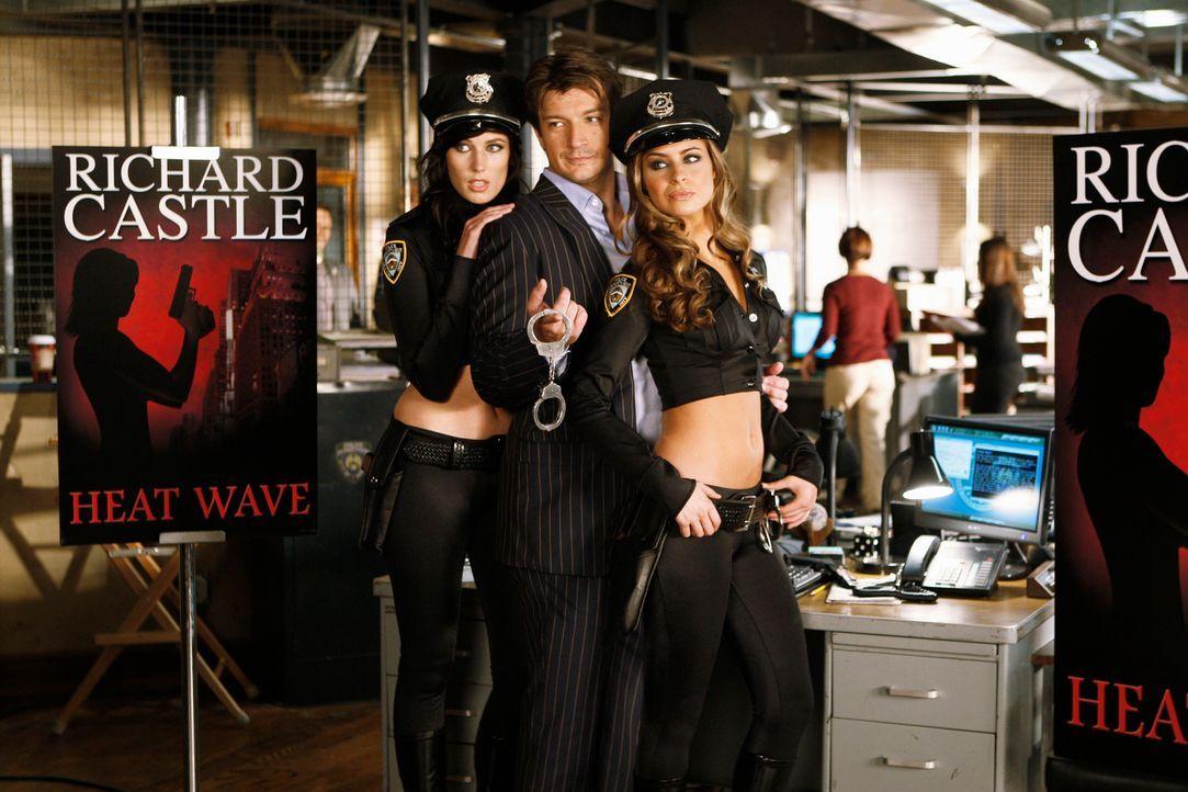 """Richard Castles (Nathan Fillion, M.) neues Buch """"Heat Wave"""" wird veröffentlicht und der Schriftsteller genießt das damit einhergehende Publicity Bri... - Bildquelle: ABC Studios"""