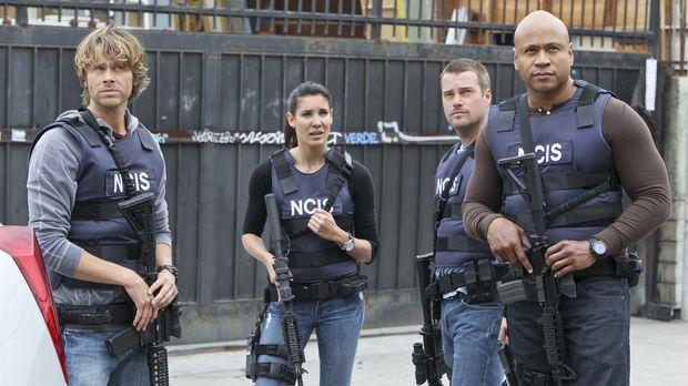 Ein neuer Fall wartet auf Callen (Chris O'Donnell, 2.v.r.), Sam (LL Cool J, r...
