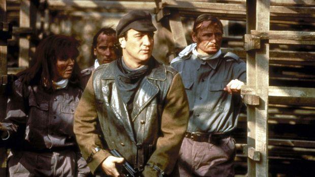 Der CIA-Agent Shayne Royce (James Belushi, vorne) und seine Truppe brechen au...