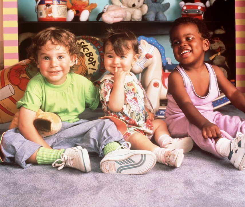 Mikey (Lorne Sussman, l.) hat endlich Verstärkung in Gestalt seiner kleinen Schwester Julie (Megan Milner, M.) bekommen. Gemeinsam mit ihrem Bruder... - Bildquelle: TriStar Pictures