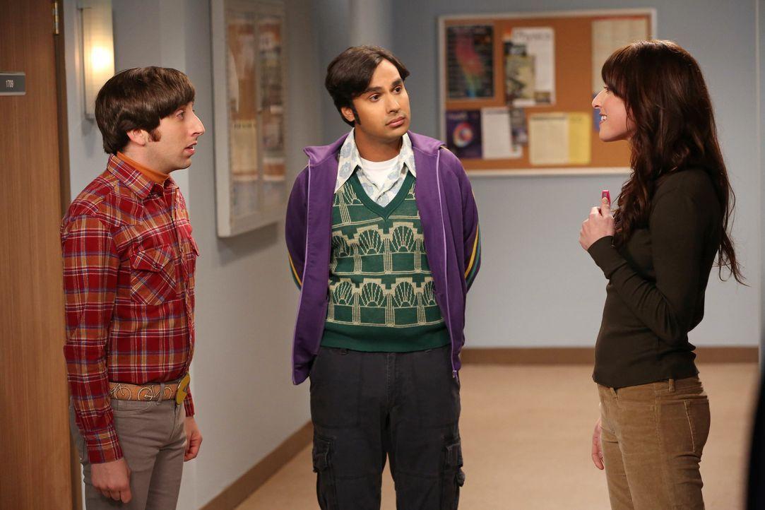 Howard (Simon Helberg, l.) und Raj (Kunal Nayyar, M.) versuchen herauszufinden, wieso Sheldon jeden Nachmittag um viertel vor drei verschwindet. She... - Bildquelle: Warner Bros. Television