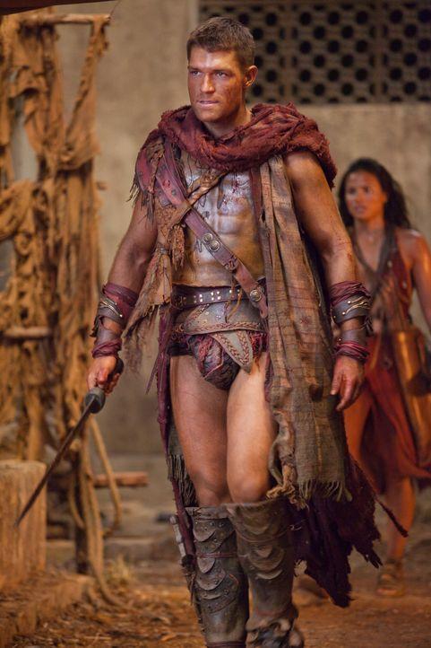Gannicus übergibt Ilithyia an Spartacus (Liam McIntyre), der mit ihrem Tod seinen Rachefeldzug gegen Glaber beenden soll. Doch dann gesteht die Rö... - Bildquelle: 2011 Starz Entertainment, LLC. All rights reserved.