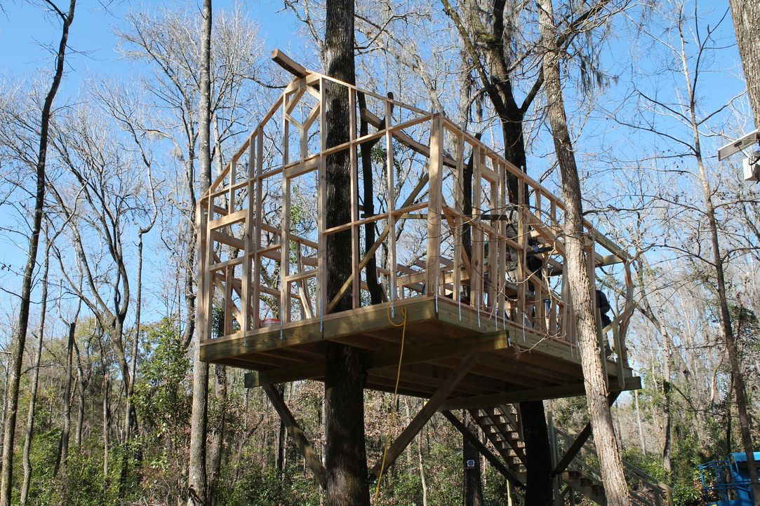 Können die Treehouse Guys den Baumhaus-Traum von Polizist John Shea aus Fort White in Florida erfüllen? Denn das Baumhaus soll hundefreundlich sein... - Bildquelle: 2015, DIY Network/Scripps Networks, LLC. All Rights Reserved.