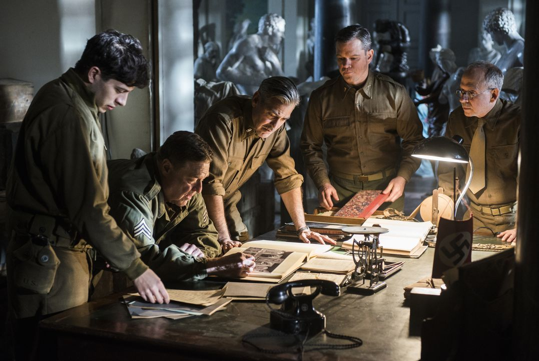 Sie sind Museumsdirektoren, Kuratoren, Kunsthistoriker - und Soldaten, die als Monuments Men ihr Leben aufs Spiel setzen, um von den Nazis verschlep... - Bildquelle: Claudette Barius 2014 Columbia Pictures Industries, Inc. and Twentieth Century Fox Film Corporation.  All rights reserved.