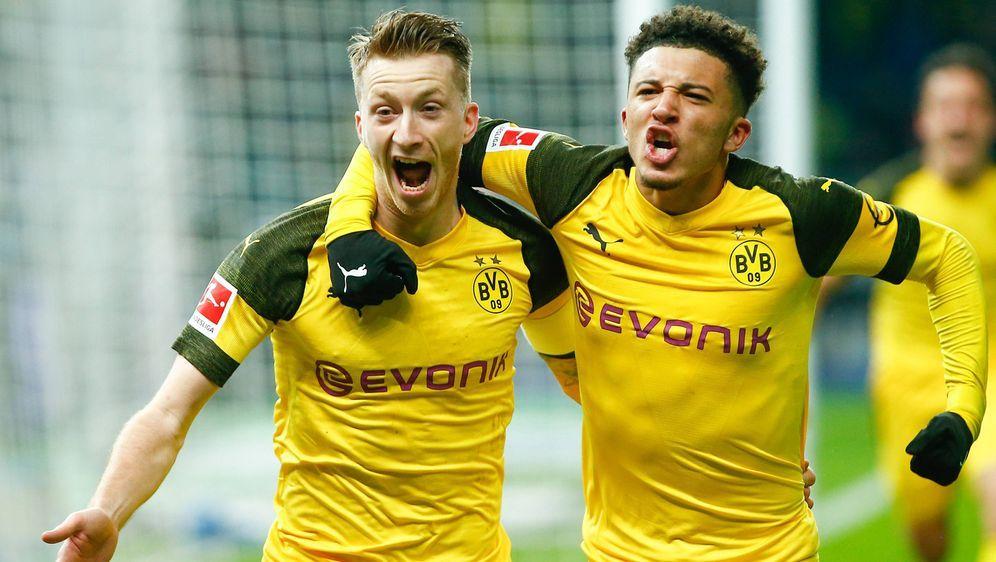 Borussia Dortmund durfte in Berlin spät jubeln - Bildquelle: Imago