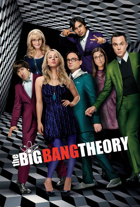 (7. Staffel) - The Big Bang Theory: Bernadette (Melissa Rauch, 2.v.l.), Howard (Simon Helberg, l.), Amy (Mayim Bialik, 2.v.r.), Sheldon (Jim Parsons... - Bildquelle: Warner Bros. Television