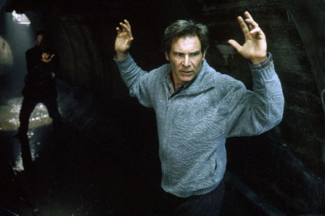 Dr. Richard Kimble (Harrison Ford, vorne) wird Zeuge, wie seine Frau von einem einarmigen Mann ermordet wird. Von der Polizei wird jedoch er des Mor... - Bildquelle: Warner Brothers International Television Distribution Inc.