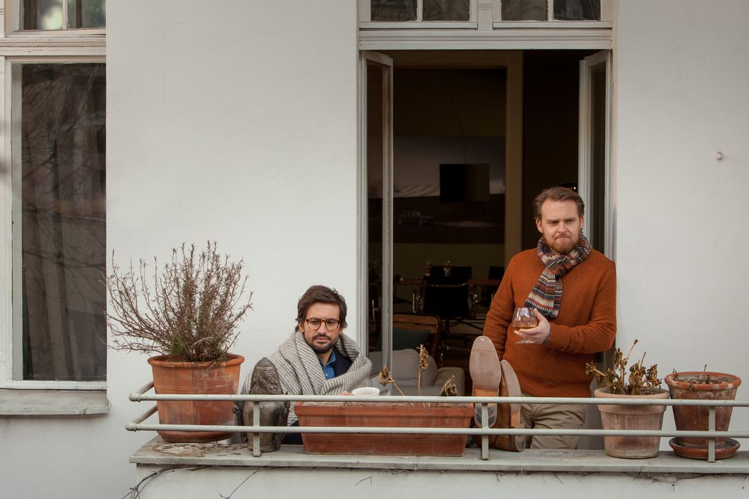 Gibt es für Friedrich (Axel Stein, l.) und Edgar (Tom Beck, r.) noch ein Happy End? - Bildquelle: Conny Klein SAT.1