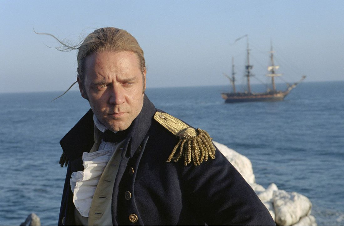 "April 1805: Vor der Nordküste Brasiliens liegt das englische Kriegsschiff ""HMS Surprise"" mit 197 Mann Besatzung und 28 Kanonen an Bord. Kapitän Jack... - Bildquelle: 2003 Twentieth Century Fox Film Corporation, Miramax Film Corp. and Universal City Studios LLLP. All rights reserved."