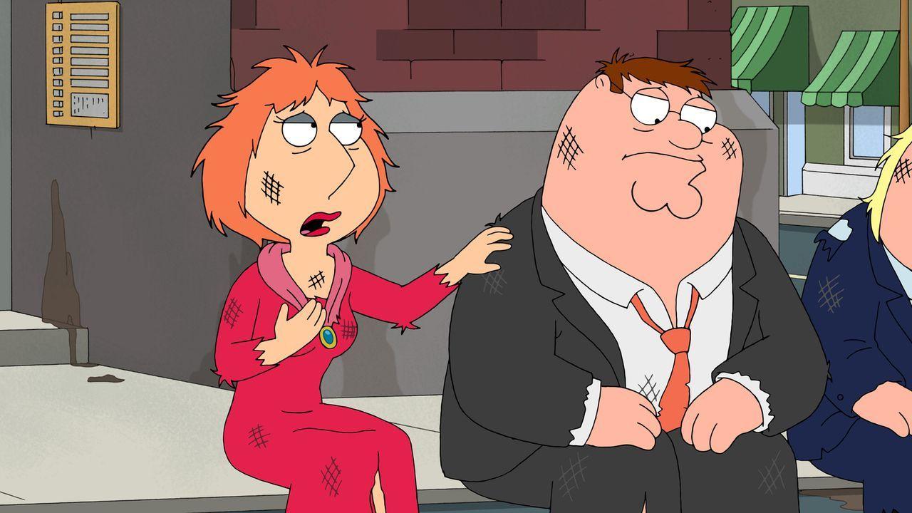 Wer hoch fliegt, kann tief fallen: Lois (l.) und Peter (r.) finden sich plötzlich ganz unten wieder ... - Bildquelle: 2011 Twentieth Century Fox Film Corporation. All rights reserved.