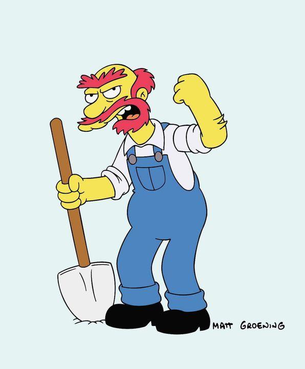 (13. Staffel) - Mit ihm ist nicht gut Kirschen essen: Hausmeister Willie. - Bildquelle: und TM Twentieth Century Fox Film Corporation - Alle Rechte vorbehalten