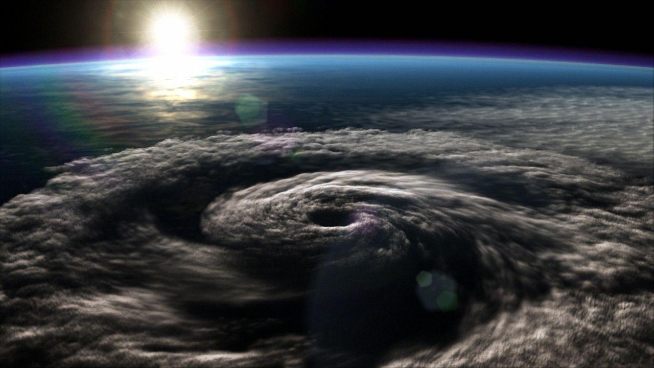 Blick aus dem Weltall auf den tropischen Sturm Agatha ... - Bildquelle: BBC